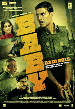 Poster Of Bollywood Movie Baby 2015 300MB BRRip 720P Full Hindi Movie