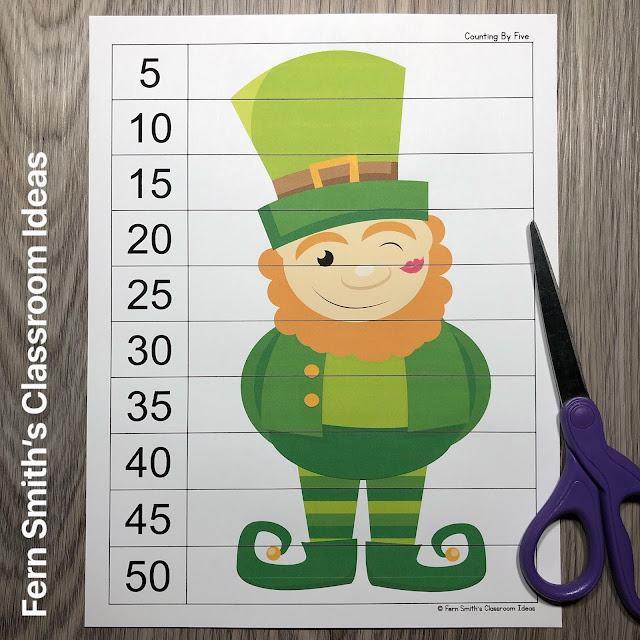 Click Here to Download These St. Patrick's Day Themed Counting Puzzles For Your Files Today!
