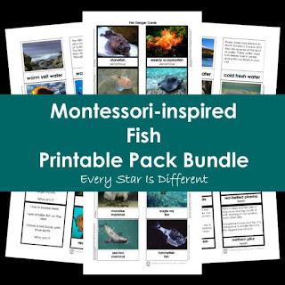 Montessori-inspired Fish Printable Pack Bundle