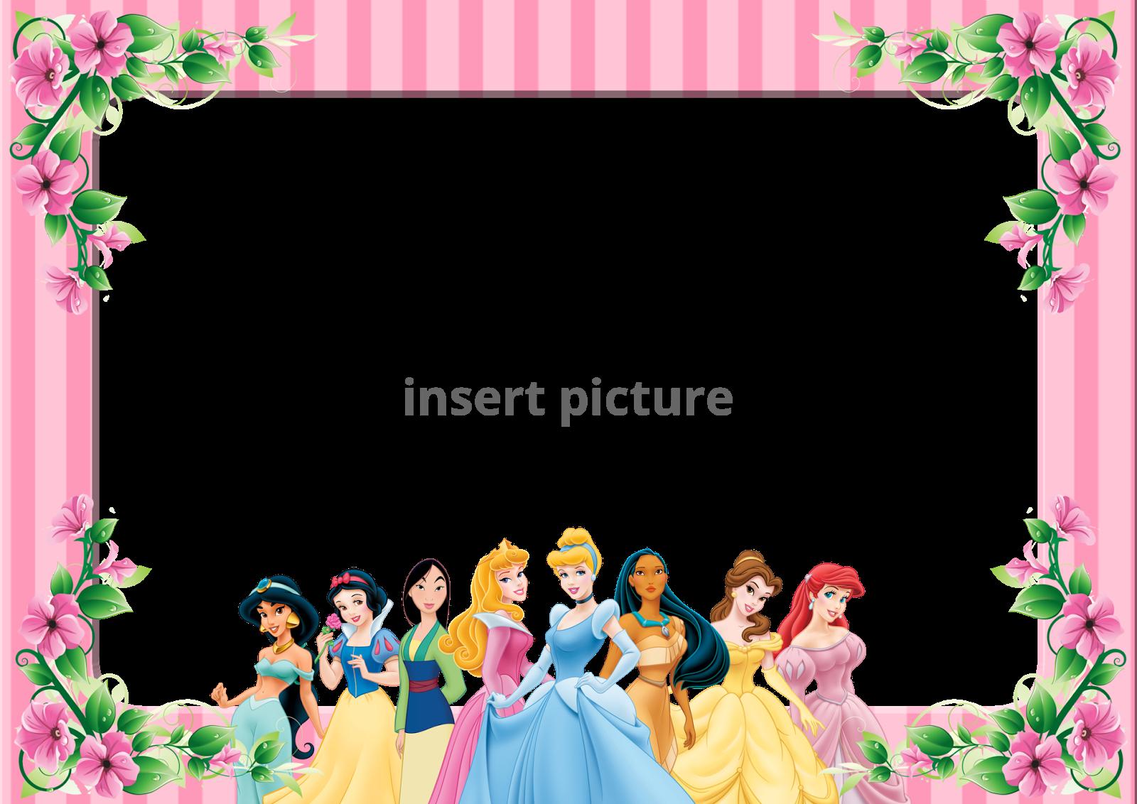 Disney Princess Stripe Png Frame Printable Png Frames