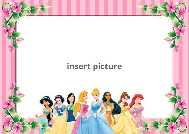 Border Design Disney Character : Disney princess stripe png frame printable frames