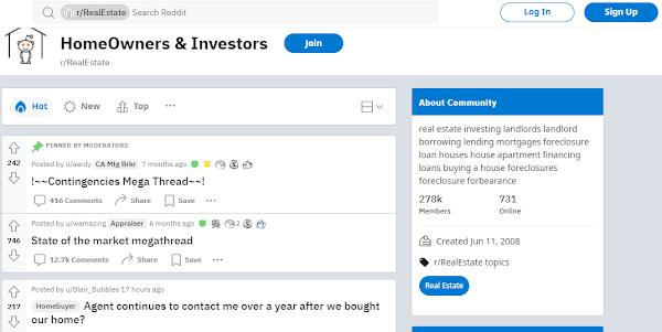 reddit forums real estate