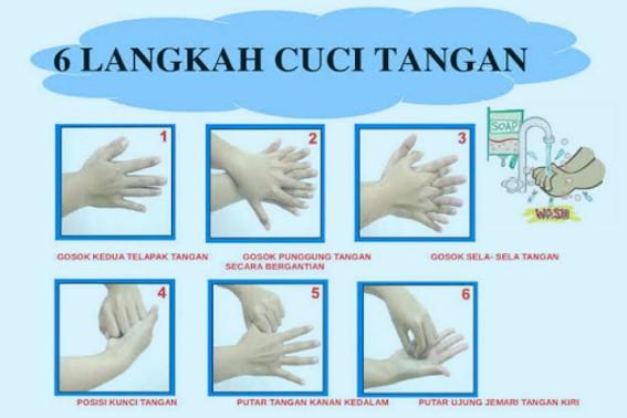 Cara Mencuci Tangan dengan 6 Langkah yang Benar