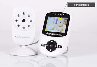 Babysense Video Baby Monitor with Digital Camera, Long Range, Room Temperature, Infrared Night Vision,