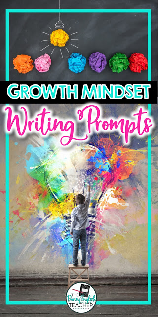 Growth mindset writing prompts for middle school students
