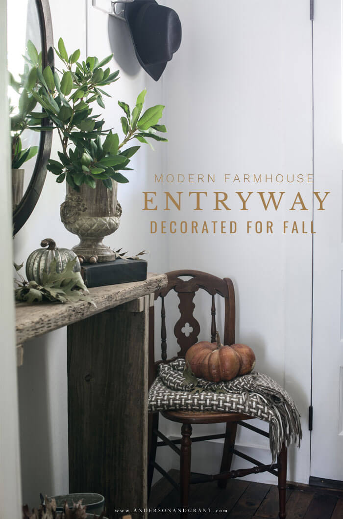 Tour this modern farmhouse entryway and learn 5 things you should add to every room for warmth and a collected feel.