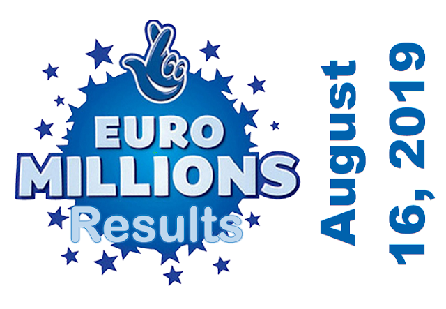 EuroMillions Results for Friday, August 16, 2019