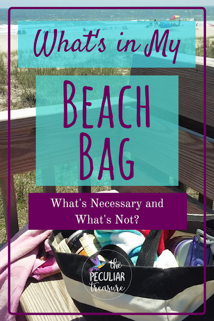 What's in my beach bag? What are the necessities for a good beach trip? What should you really pack?  Find out more at The Peculiar Treasure!