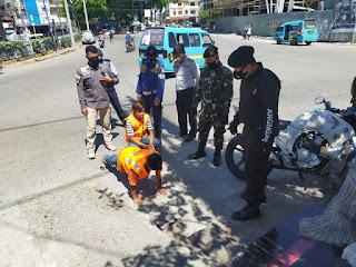 Ops Yustisi, Polres Pelabuhan Makassar Gencar Sweeping Penggunaan Masker