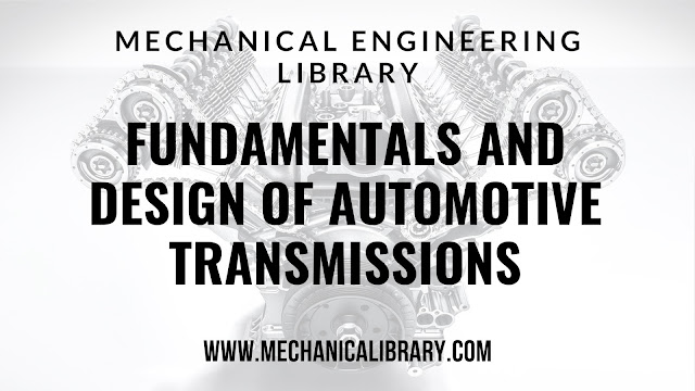 FUNDAMENTALS AND DESIGN OF AUTOMOTIVE TRANSMISSIONS Poster