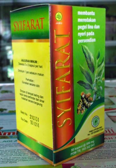 Jual obat Herbal Asam Urat SYIFARAT Toga Nusantara