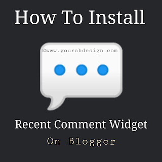 Install Recent Comments Widget on Blogger 2019