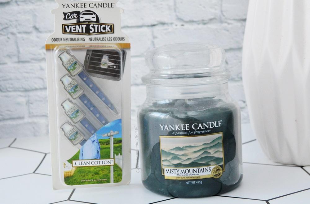 yankee candle, vent stics, świeca