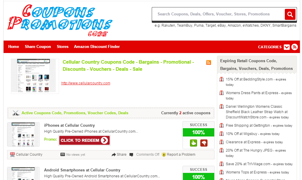 Cellular country coupon code