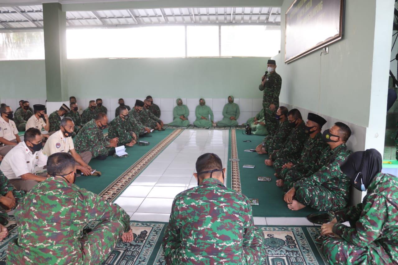 Kodim 0410/KBL menggelar acara peringatan Maulid Nabi Muhammad SAW 1442 H/2020 M