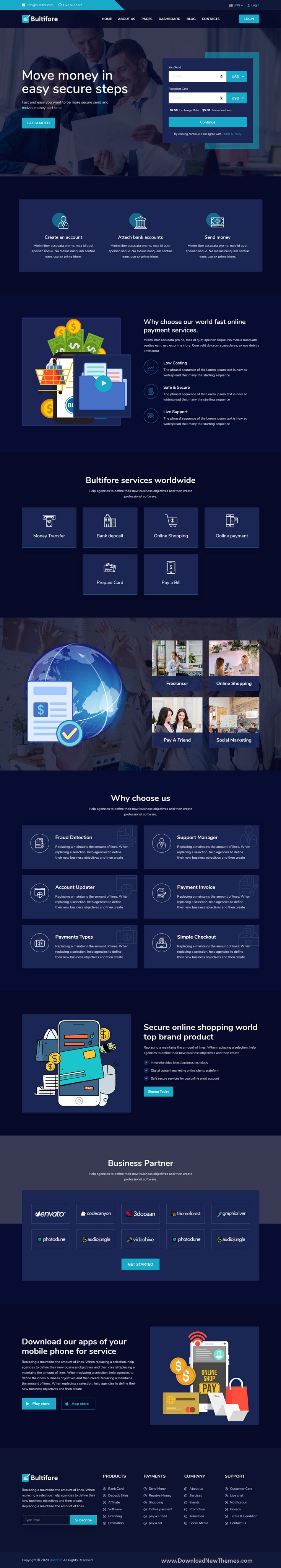 Online Payment & Banking Service Template