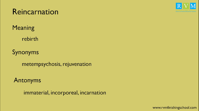 """Word Of The Day """"Reincarnation"""""""