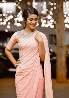 Priya Varrier Saree Pos 1