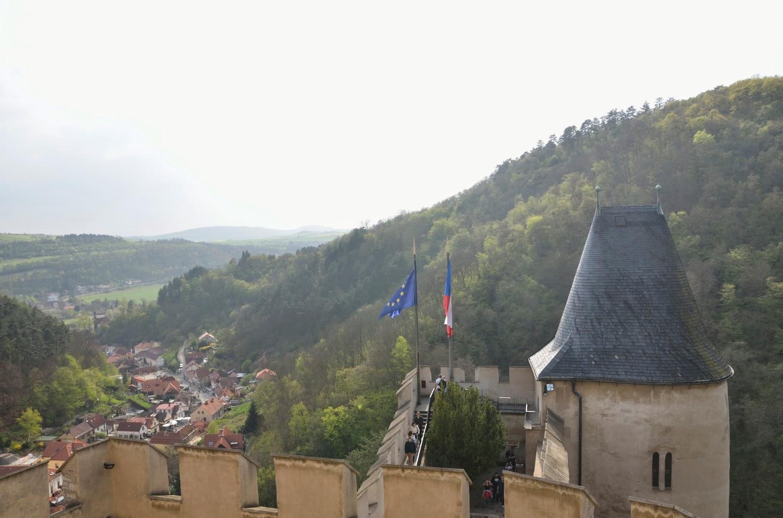 Vistas desde el castillo de Karlsteijn
