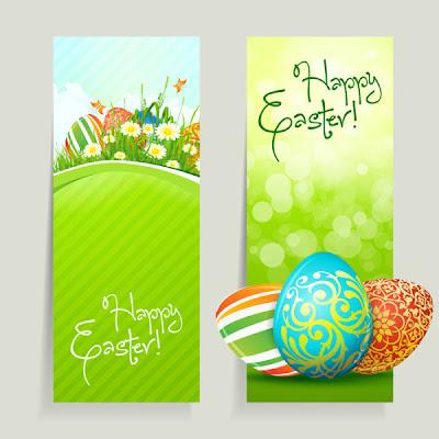 banner con huevos de pascua