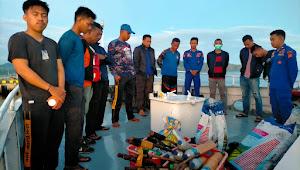 Ringkus 11 Terduga Pelaku Bom Ikan,  Puluhan Botol Bom Rakitan Disita Dit Polairud Polda Sulbar