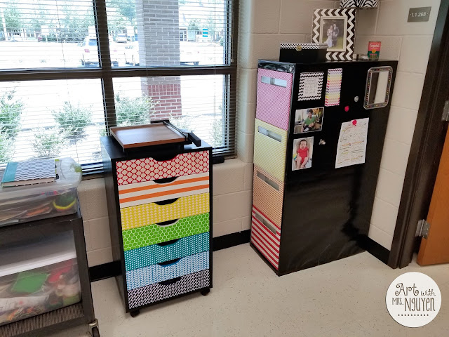 A new school year, a blank slate of an art room. Here's how Melinda (upon returning from maternity leave) set up her her centers, her storage areas, and more.