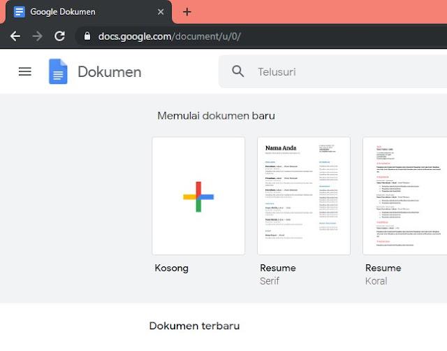 Cara Membuat Google Formulir langkah ke 1