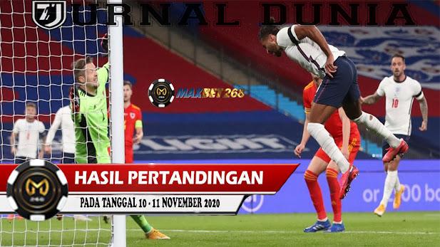 Hasil Pertandingan Sepakbola Tanggal 10 - 11 November 2020