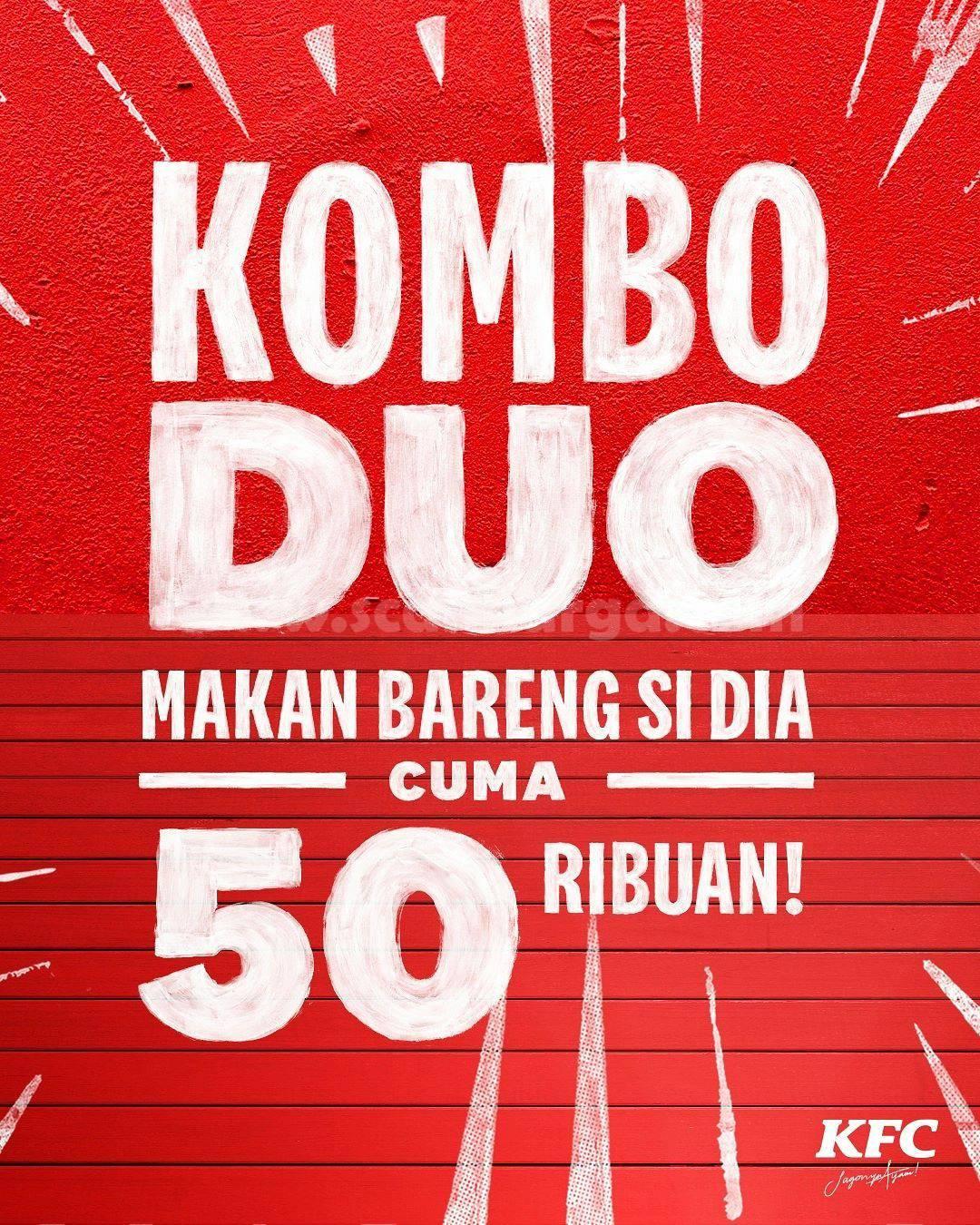 Promo KFC KOMBO DUO Harga Paket CUMA 50 Ribuan!
