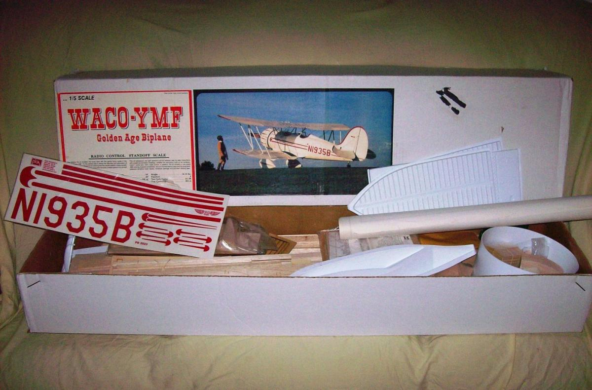 RC Flying Models: Building The Pica 1/6th Size Waco YMF 3