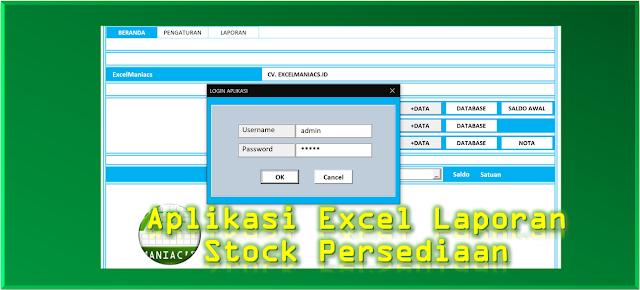 Aplikasi Excel Laporan Stock Persediaan v4