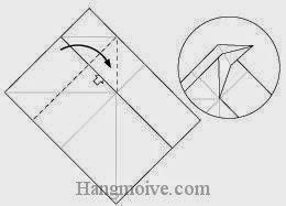 Bước 4: Mở lớp giấy, kéo và gấp lớp giấy xuống dưới.