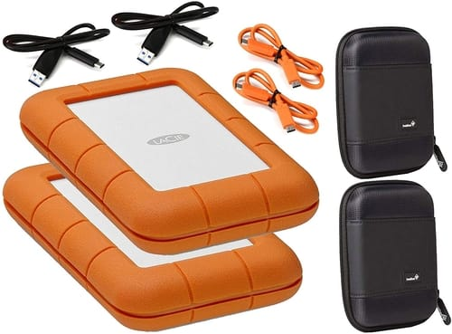Review Lacie 2 Pack Rugged 1TB External Hard Drives