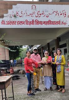 NSS द्वारा शिया कालेज में पीपल के पौधे रोपित    #NayaSaberaNetwork