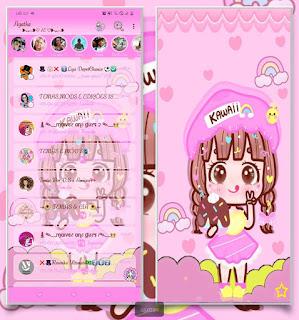 Anime Girl Theme For YOWhatsApp & Fouad WhatsApp By Agatha