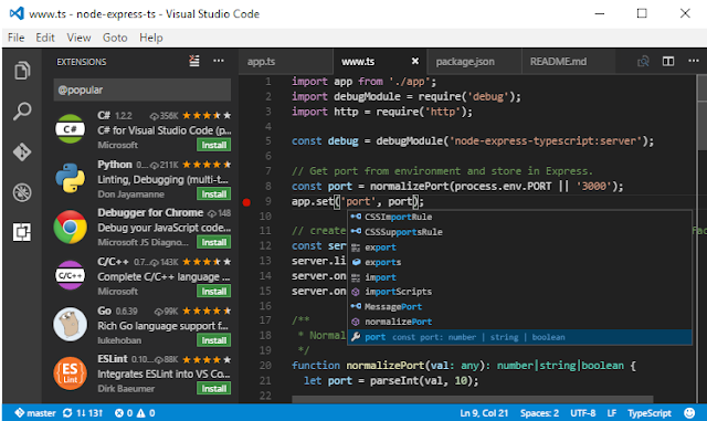 software teks editor,terbaik,programmer,visual studio code,microsoft visual studio