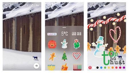 Hướng dẫn cách làm thiệp giáng sinh gửi bạn bè trên Instagram