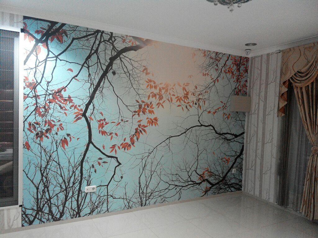 WALLPAPER CUSTOM GEDUNG Wallpaper Dinding Custom