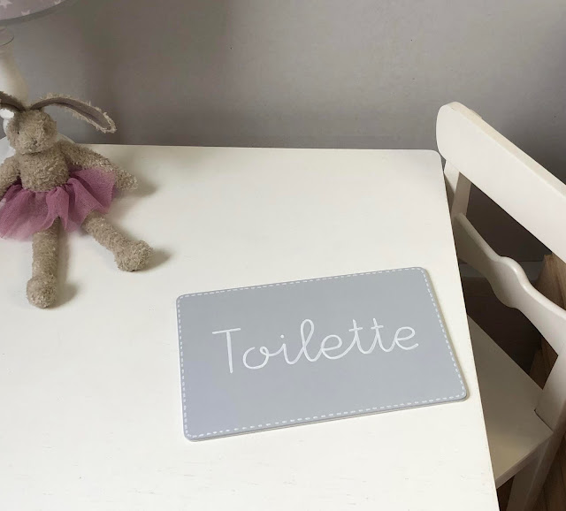 placa puerta infantil personalizada -TOILETTE