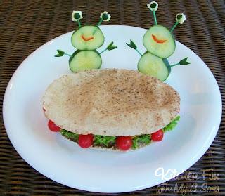 Flying Falafel Saucer Sandwich