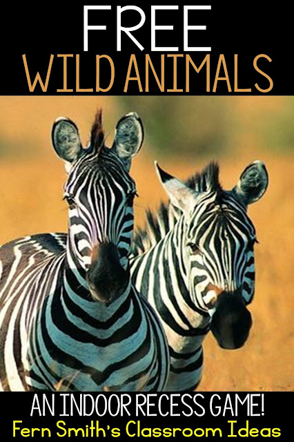 FREE Indoor Recess Fun - Wild Animal Printable Direction Sheet! To Help You in Your Classroom develop an Indoor Recess Binder! Perfect for your Sub Tub or Substitute Binder too! FREE! #FernSmithsClassroomIdeas