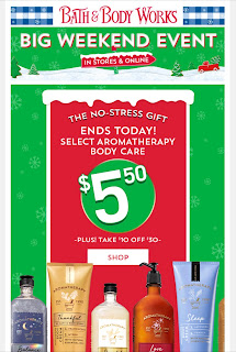 Bath & Body Works | Today's Email - December 1, 2019