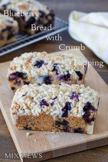 Blueberry Bread with Crumb Topping