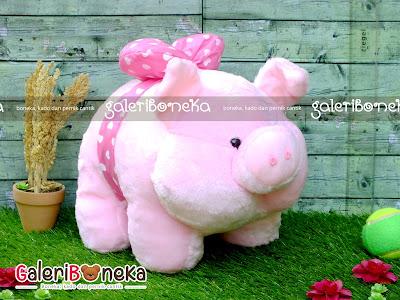 Boneka Lucu Bentuk Babi Piggy Warna Pink