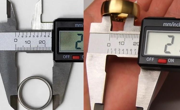 Pengukuran Diameter Cincin dengan Jangka Sorong