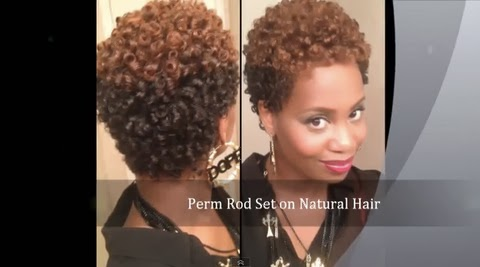 How I Get A Perfect Perm Rod Set On Short Natural Hair With No Heat