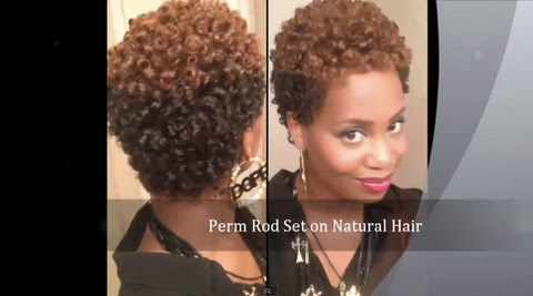 A No Heat Perm Rod Set For Natural Hair Style Tutorial