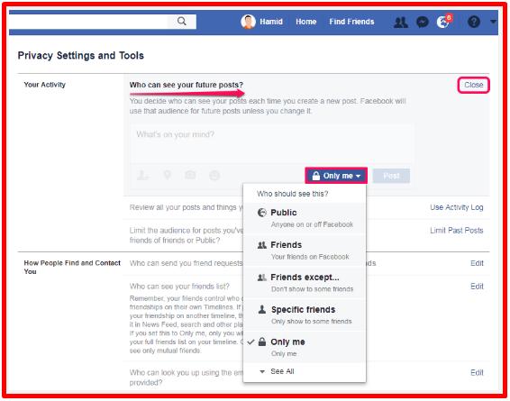 Make My Facebook Private