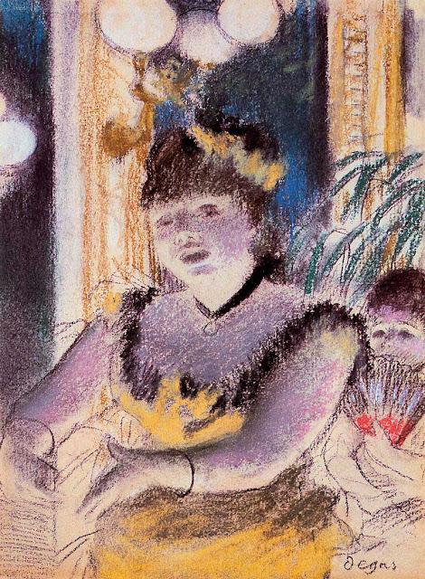 Эдгар Дега - Певица в кафешантане (1879)