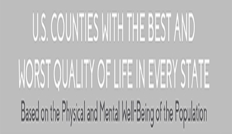 U.S. Counties With the Best and Worst Quality of Life in Every State #infographic